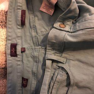 NYDJ Jeans - NYDJ light teal blue capris
